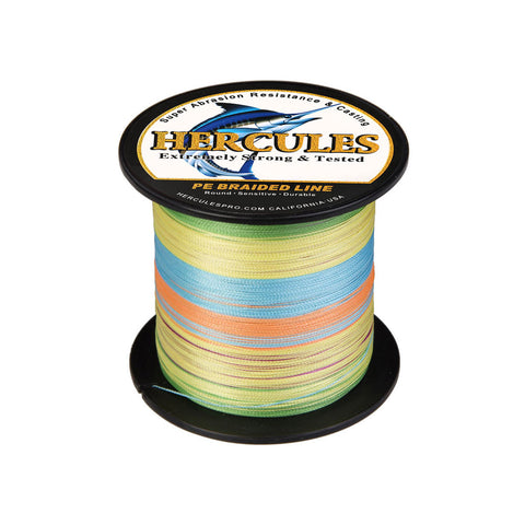 300M 328Yds Multicolor 6lb-100lb Hercules PE Braided Fishing Line 4 Strands
