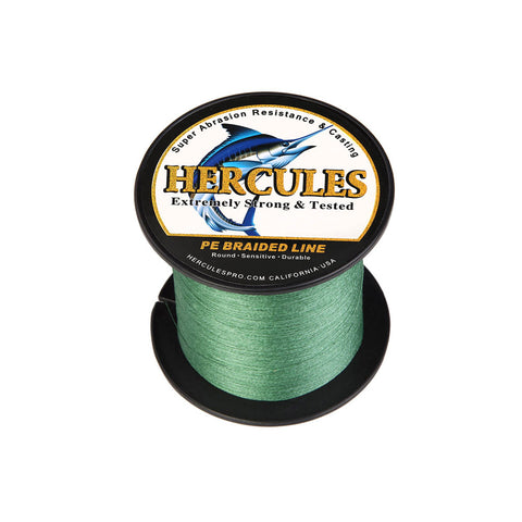 300M 328Yds Green 6lb-100lb Hercules PE Braid Fishing Line 4 Strands