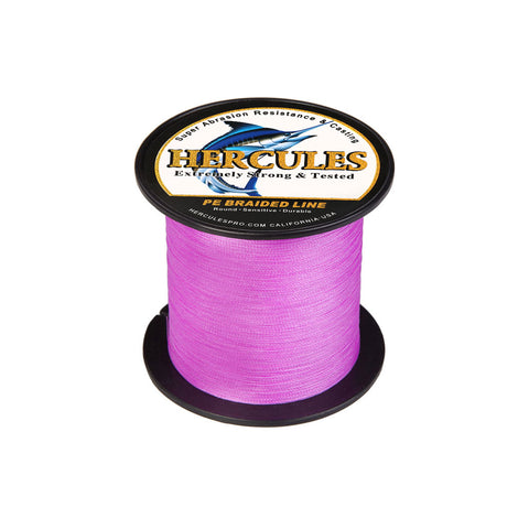 300M 328Yds Pink 6lb-100lb Hercules PE Braided Fishing Line 4 Strands