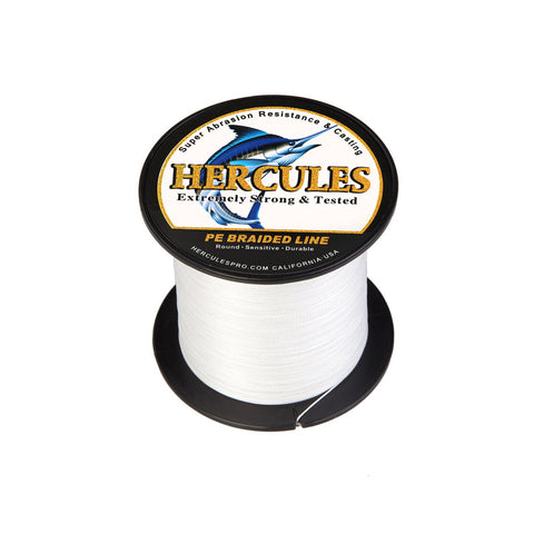 300M 328Yds White 6lb-100lb Hercules PE Braided Fishing Line 4 Strands