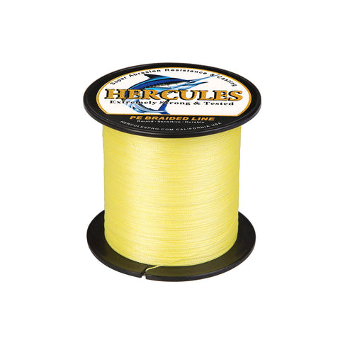 300M 328Yds Yellow 6lb-100lb Hercules PE Braid Fishing Line 4 Strands