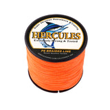 300M 328Yds Orange 6lb-100lb Hercules PE Braid Fishing Line 4 Strands
