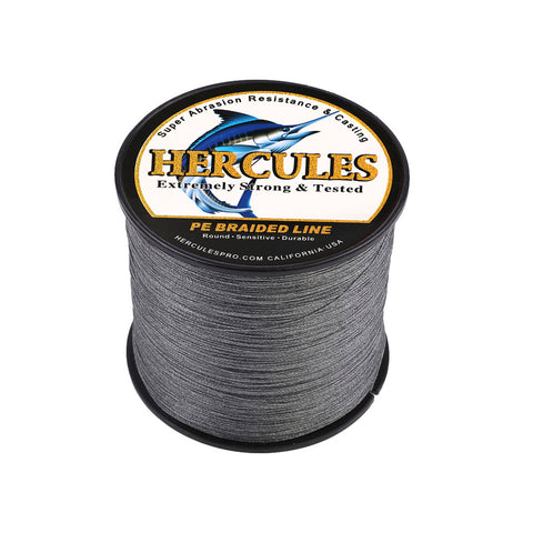 500M 547Yds Gray 10lb-300lb Hercules PE Braided Fishing Line 8 Strands