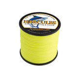 500M 547Yds Fluorescent Yellow 10lb-300lb Hercules PE braid Fishing Line 8 Strands