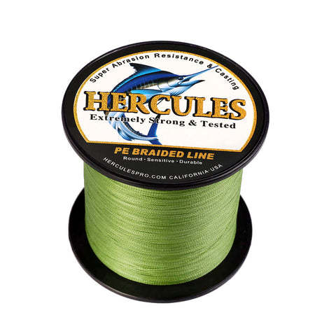 500M 547Yds Army Green 6lb-100lb Hercules PE Braided Fishing Line 4 Strands