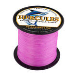 500M 547Yds Pink 6lb-100lb Hercules PE Braid Fishing Line 4 Strands