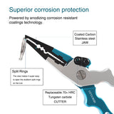Herculers Fishing Pliers Saltwater Freshwater with Sheath and Lanyard, Aluminum Fishing Pliers Hook Remover and Cutter
