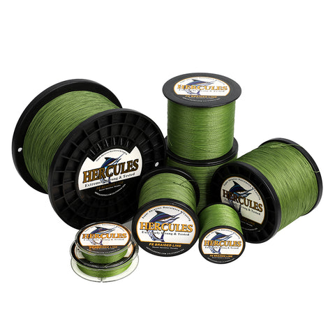 2000M 2187Yds Army Green 10lb-300lb Hercules PE Braided Fishing Line 8 Strands