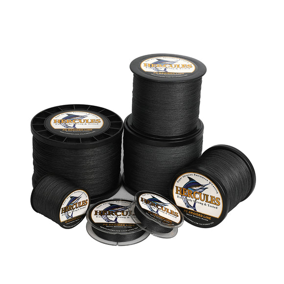 2000M 2187Yds Black 6lb-100lb Hercules PE Braid Fishing Line 4 Strands