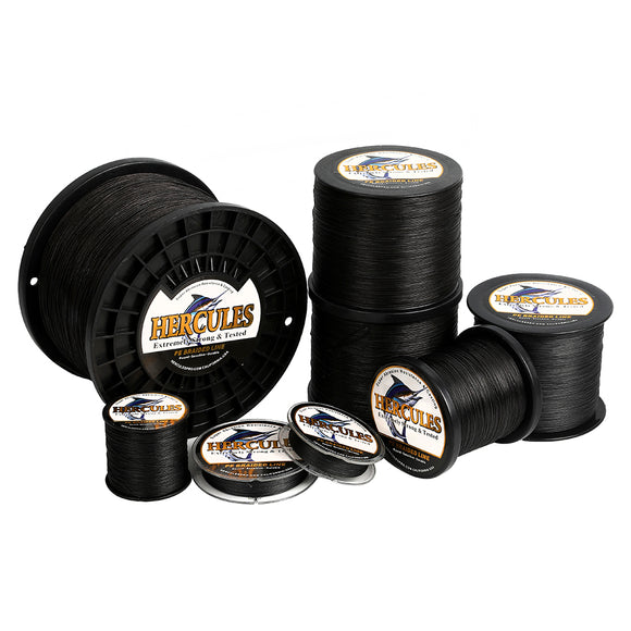 2000M 2187Yds Black 10lb-300lb Hercules PE Braided Fishing Line 8 Strands