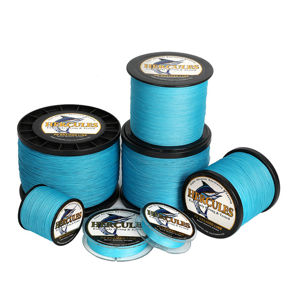 2000M 2187Yds Blue 6lb-100lb Hercules PE Braided Fishing Line 4 Strands