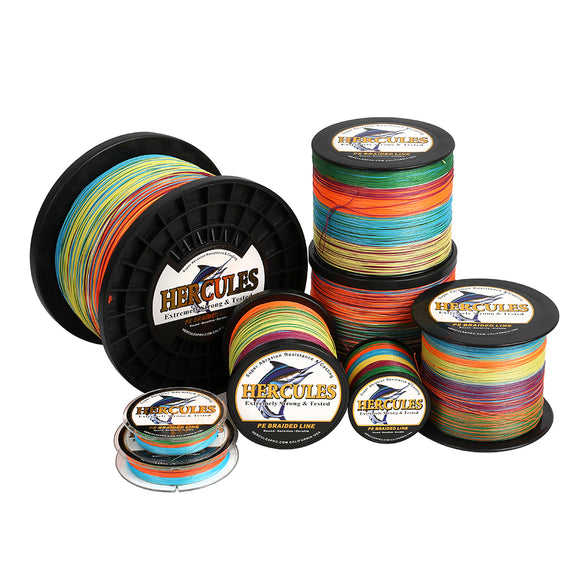 2000M 2187Yds Multicolor 10lb-200lb Hercules PE braid Fishing Line 8 Strands