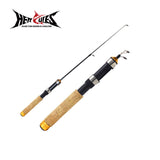 Hercules Fishing Rod Fishing Tackle 60cm Telescopic Portable Carbon Fiber Fishing Pole Pesca Elastic Anti Slip
