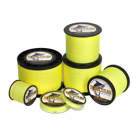 2000M 2187Yds Fluorescent Yellow 6lb-100lb Hercules PE Braid Fishing Line 4 Strands
