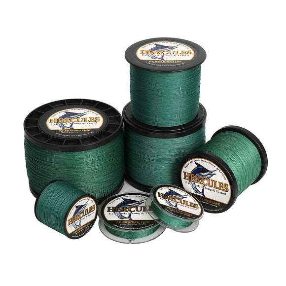 2000M 2187Yds Green 6lb-100lb Hercules PE Braid Fishing Line 4 Strands