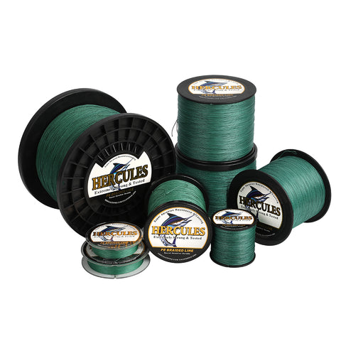 2000M 2187Yds Green 10lb-300lb Hercules PE Braided Fishing Line 8 Strands