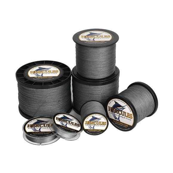 2000M 2187Yds Gray 6lb-100lb Hercules PE Braided Fishing Line 4 Strands