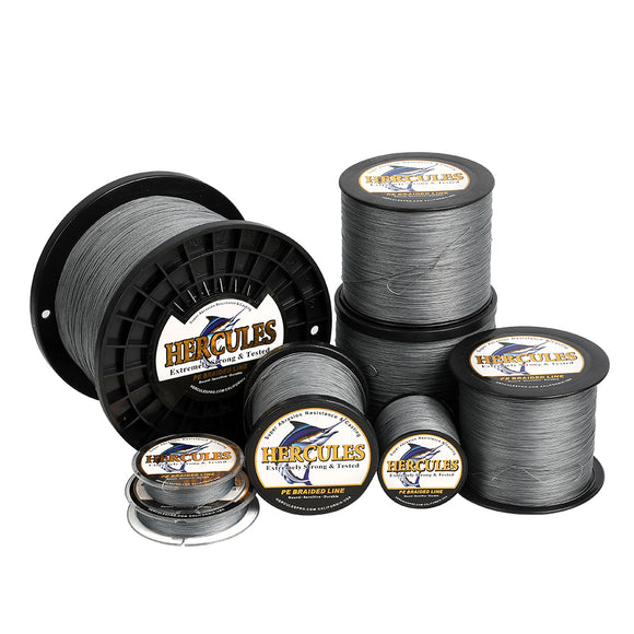 2000M 2187Yds Gray 10lb-300lb Hercules PE braid Fishing Line 8 Strands