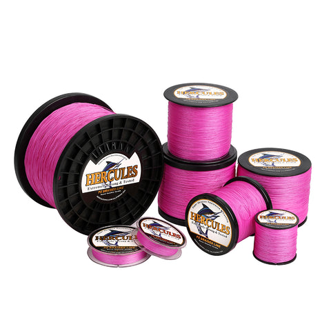 2000M 2187Yds Pink 10lb-300lb Hercules PE braid Fishing Line 8 Strands