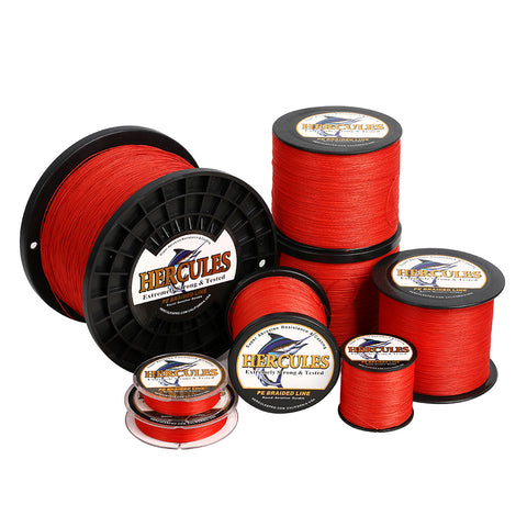 2000M 2187Yds Red 10lb-300lb Hercules PE Braided Fishing Line 8 Strands