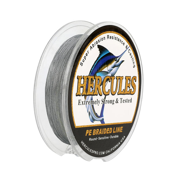 100M 109Yds Gray 6lb-100lb Hercules PE Braid Fishing Line 4 Strands
