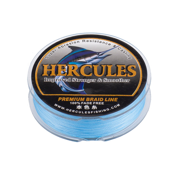 [HERCULES] No Fade Fishing Line Blue 4 Strands Fishing Line PE Line 100m 150m 200m 300m 500m 1000m Luya Fishing Line 6LB-100LB PE Line Braid Line