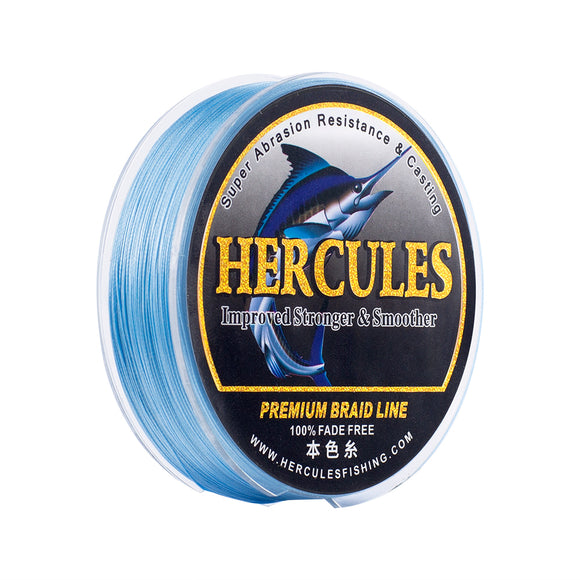 [HERCULES] No Fade Fishing Line Blue 8 Strands 10LB-120LB PE Line Braided Fishing Line Multifilament Fishing Line Wear Resistance 100m 150m 200m 300m 500m 1000m