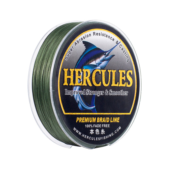 [HERCULES] No Fade Fishing Line Green 8 Strands Braid Line Super Strong Strength PE Braided Fishing Line 10LB-120LB 100m 150m 200m 300m 500m 1000m