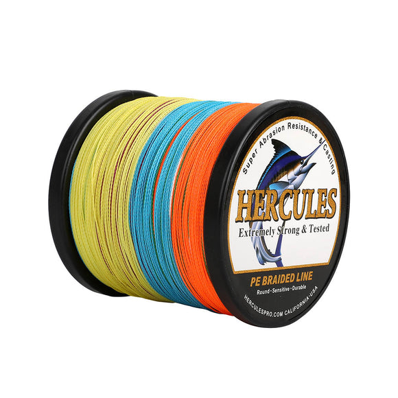 500M 547Yds Multicolor 6lb-100lb Hercules PE Braid Fishing Line 4 Strands