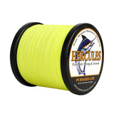 1000M 1094Yds Fluorescent Yellow 6lb-100lb Hercules PE Braid Fishing Line 4 Strands