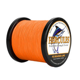 1000M 1094Yds Orange 6lb-100lb Hercules PE Braid Fishing Line 4 Strands