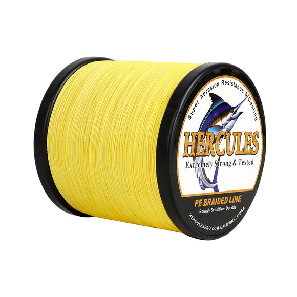 500M 547Yds Yellow 6lb-100lb Hercules PE Braided Fishing Line 4 Strands
