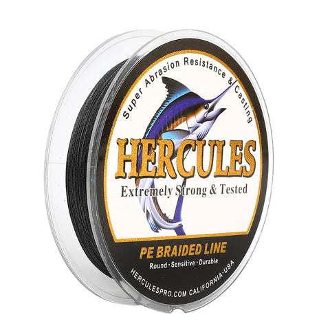 1000M 1094Yds Black 10lb-300lb Hercules PE Braided Fishing Line 8 Strands