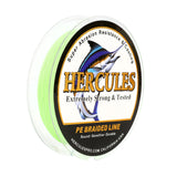 500M 547Yds Fluorescent Green 6lb-100lb Hercules PE Braid Fishing Line 4 Strands