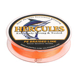1000M 1094Yds Orange 10lb-300lb Hercules PE Braided Fishing Line 8 Strands