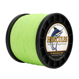 1000M 1094Yds Fluorescent Green 6lb-100lb Hercules PE Braided Fishing Line 4 Strands