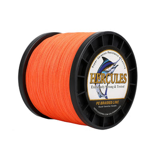 1500M 1640Yds Orange 10lb-300lb Hercules PE braid Fishing Line 8 Strands