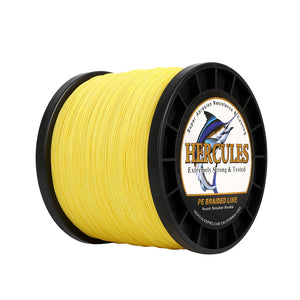 1500M 1640Yds Yellow 6lb-100lb Hercules PE Braided Fishing Line 4 Strands