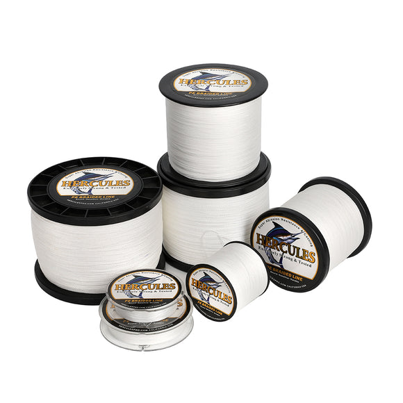 2000M 2187Yds White 6lb-100lb Hercules PE Braided Fishing Line 4 Strands