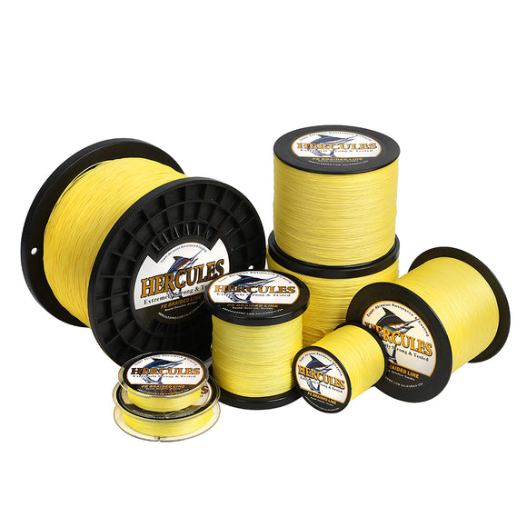 2000M 2187Yds Yellow 10lb-200lb Hercules PE Braided Fishing Line 8 Strands
