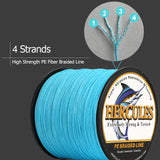 500M/1500M/2000M Hercules 4 Strands Blue Camo 6lbs-100lbs PE Dyneema braid Fishing Line blue camouflage braid Line