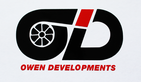 Owen Developments - Black and Red vinyl sticker pack - Owen Developments
