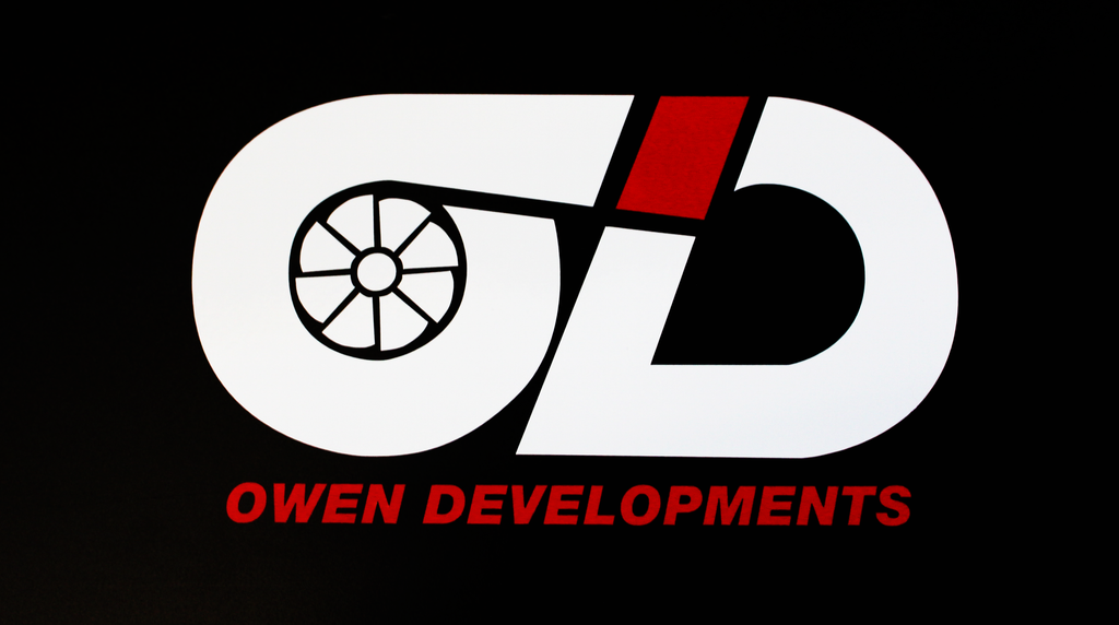 Owen Developments - White and Red vinyl sticker pack - Owen Developments