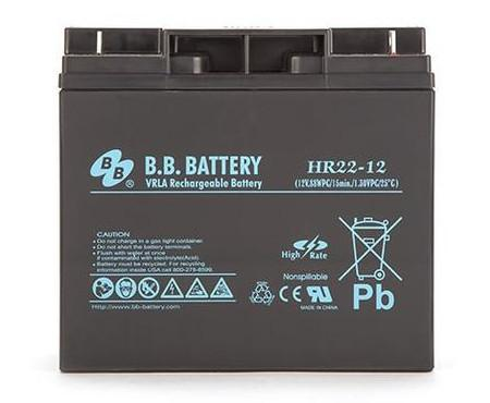BB battery 12 volt DC HR22ah (Perfect for Portable Power 1700/1700RC)