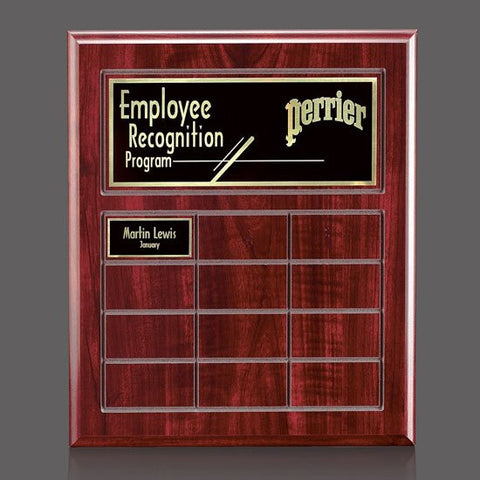 Antwerp Perpetual Plaque - Cherry Finish 12 Plate