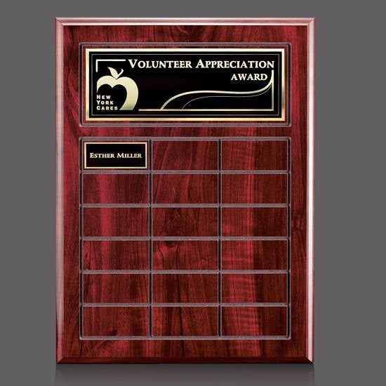 Antwerp Perpetual Plaque - Cherry Finish 18 Plate