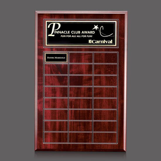 Antwerp Perpetual Plaque - Cherry Finish 24 Plate