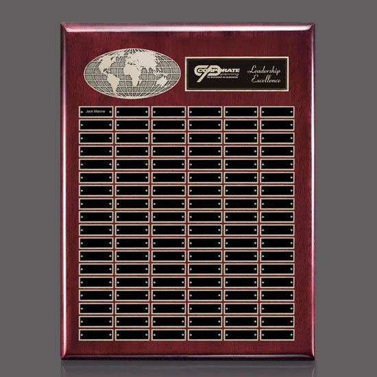 World Perpetual Plaque (Vert) - Rosewood 108 Plate