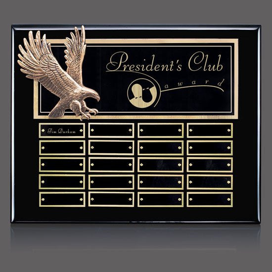 Flying Eagle P/Plaque - Ebony 20 Plate