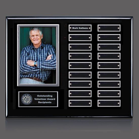 Photo (Vert) P/Plaque - Black/Silver 18 Plate